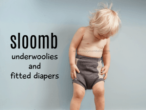 Sloomb Underwoolies and Fitted diaper review for overnight cloth diaper solutions