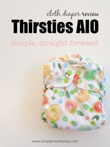 Thirsties aIO Cloth diaper - all in one cloth diaper - simple and straight forward