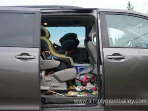 Toyota sienna for car seats