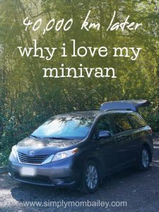 Why I love my minivan - mom life - canadian roadtrip adventures with the Sienna
