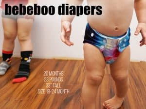 bebeboo diapers on a 18 month old baby