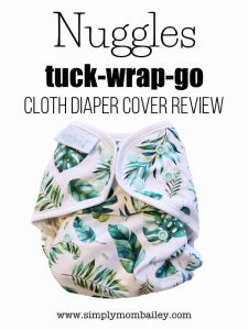 Cloth Diaper Cover Review - Nuggles Cover the Tuck-Wrap-Go