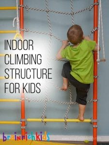 Encouraging Indoor Play and Climbing on the Brian Rich Kids Gym for Young Kids - Indoor Play Center and climbing wall for kids