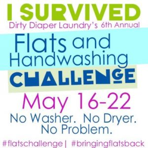 2016 Flats & Handwashing Challenge for Cloth Diapers