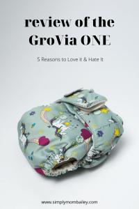 Review of the GroVia ONE Cloth Diaper