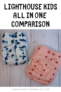 Comparison of Lighthouse Kids Supreme and OS diaper