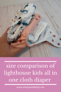 Size Comparison of Lighthouse kids AIO Cloth diaper