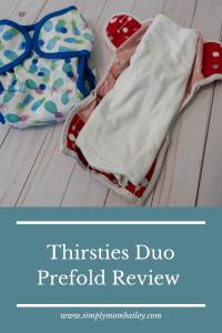 Thirsties Duo Prefold - Hemp Cloth Diaper Review