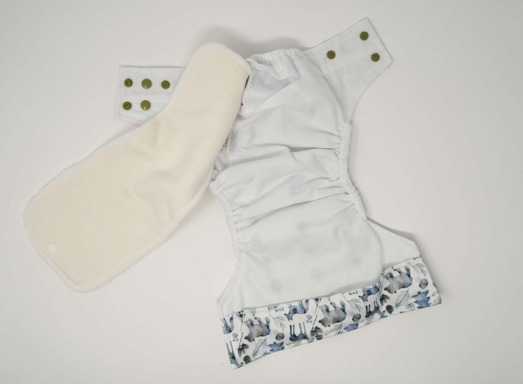 This is an interior picture of the Little Fanny Pants Pocket Diaper - a one size pocket diaper