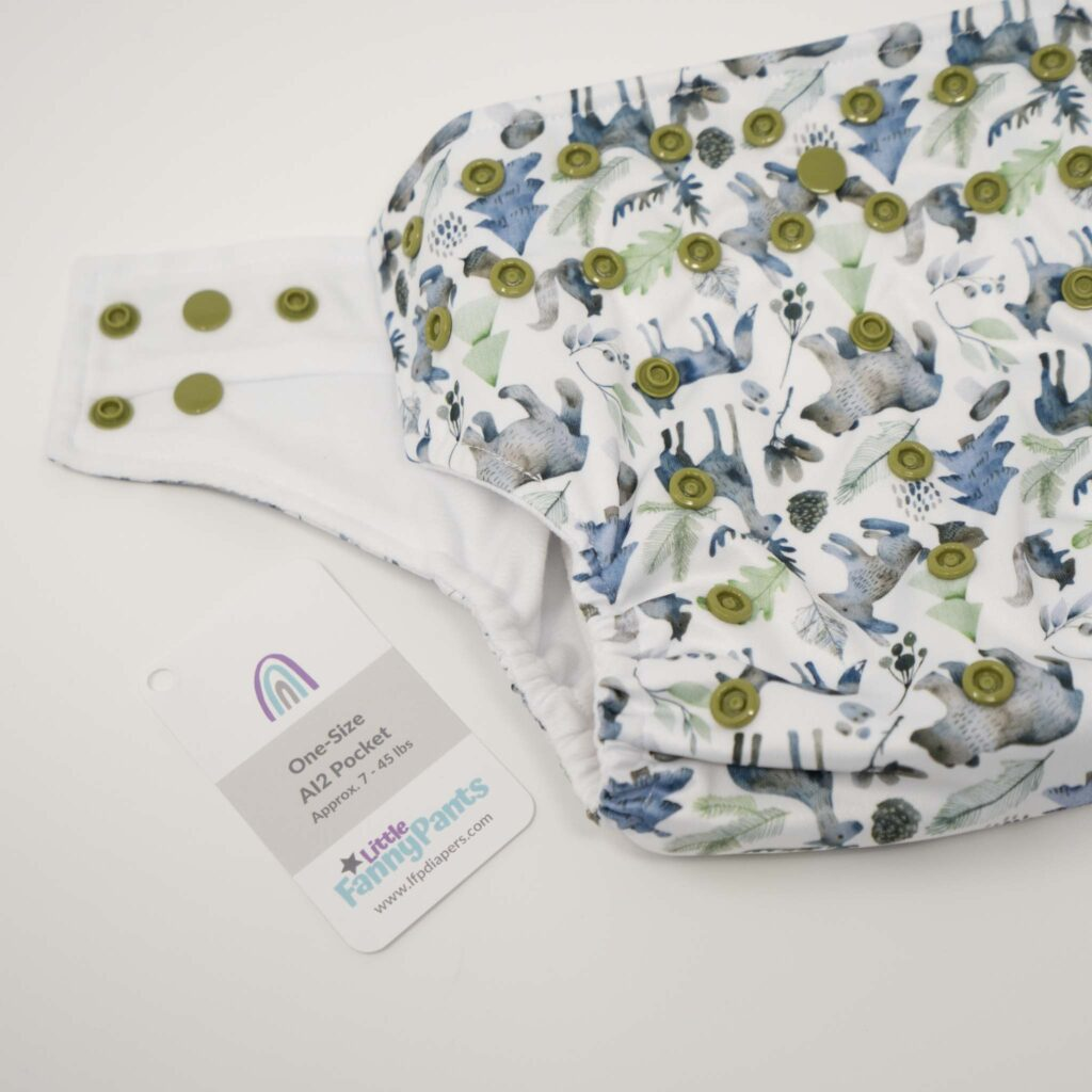 This is a picture of the Little Fanny Pants Pocket Diaper - a one size pocket diaper