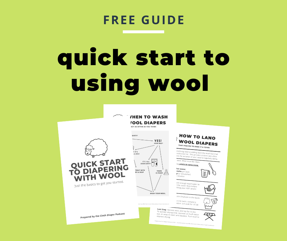 Green Graphic that says FREE GUIDE QUICK START TO USING WOOL and includes three pages about washing and how to land wool.
